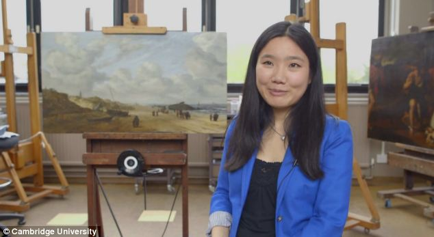 Shan Kuang at the Hamilton Kerr Institute, who cleaned the surface and discovered the whale.