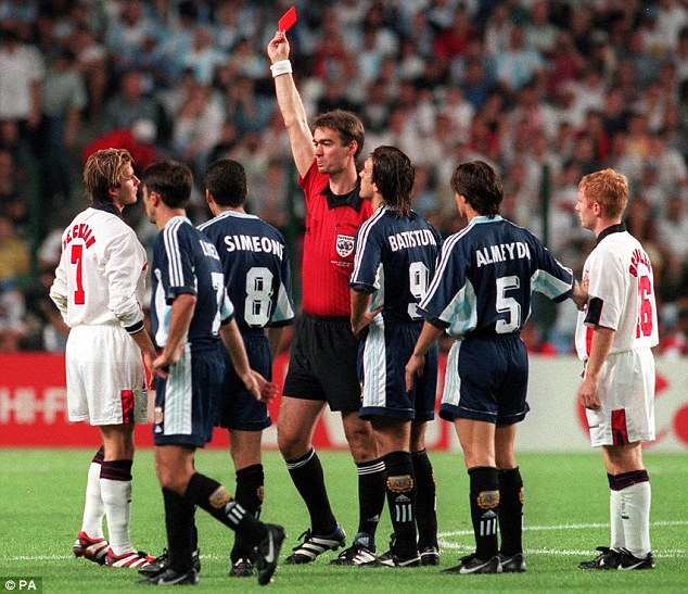 End of the World (Cup): David Beckham is sent off against Argentina at France 98