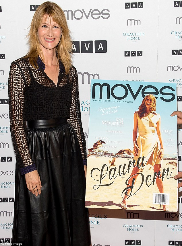 Cover girl: The 47-year-old actress  is currently promoting her new movie The Fault In Our Stars