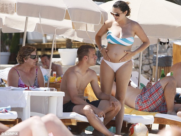Things are hotting up: Roberto Soldado, pictured on holiday in Ibiza, could be used in a swap deal