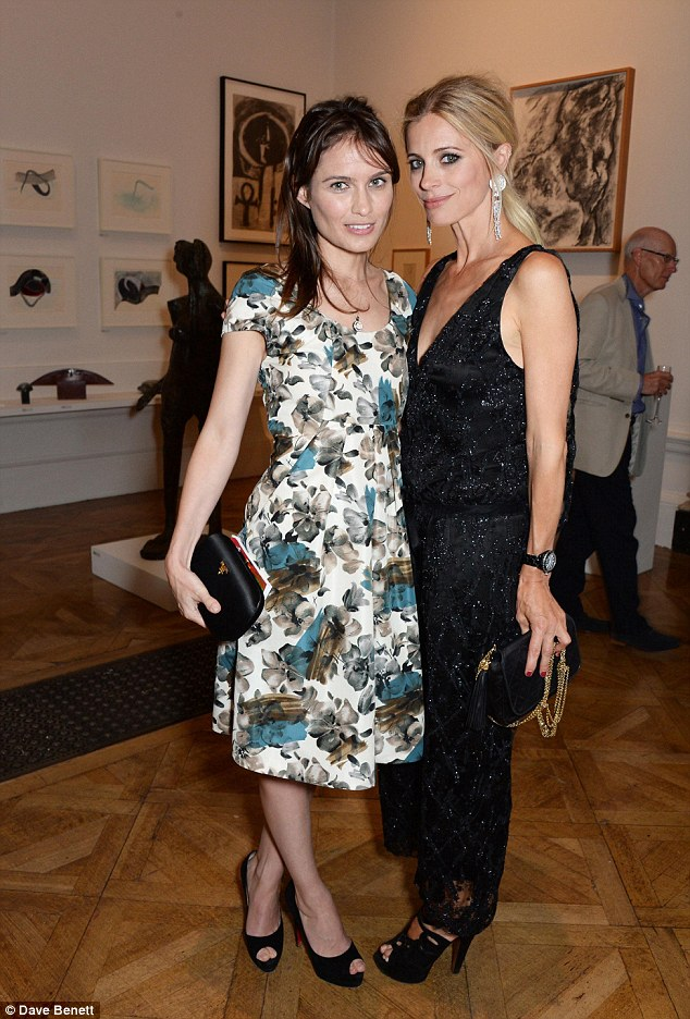 Old friends: Sheherazade Goldsmith (L) and Laura Bailey catch up at the event