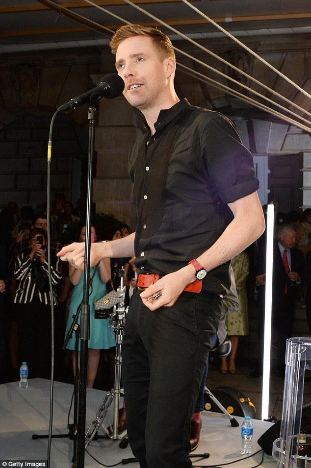 The Voice: Ricky Wilson looked dapper in a black shirt and skinny jeans