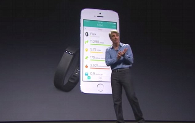 Apple CEO Tim Cook launching the IOS 8 version of it's Apple product, and a new health app which shares the same name as Australia's HealthKit