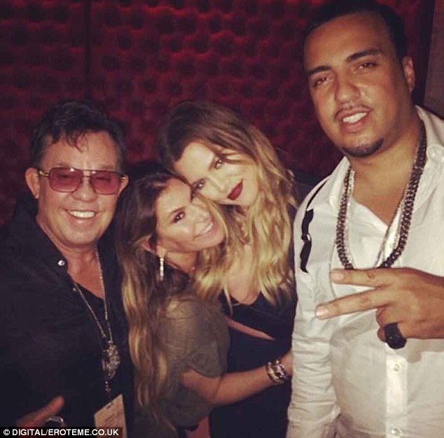 More pals: The Kourtney & Khloe Take The Hamptons star with Loren Ridinger (center) and French (right)
