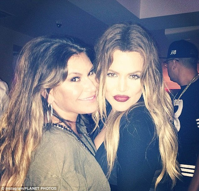 Longtime friends: With Loren, who Khloe called her 'obsession'