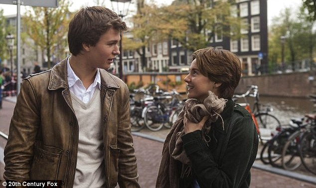 Tearjerker: Shailene Woodley and Ansel Elgort as Augustus Waters in The Fault In Our Stars