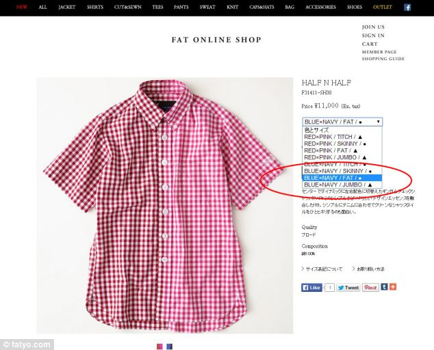 The clothing company has ditched traditional size labels in favour of more literal descriptions
