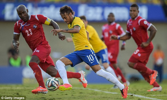 Samba style: World Cup hosts and favourites Brazil are third, for who Neymar (centre) hopes to star