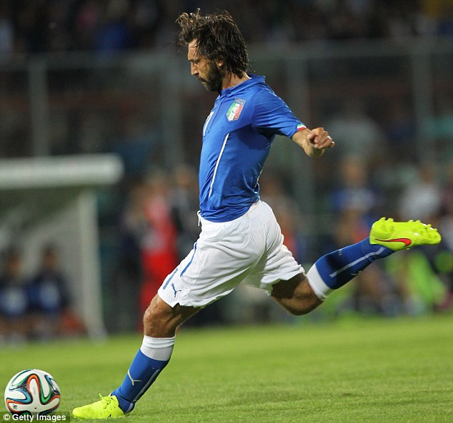 Majestic: Andrea Pirlo and Italy are also in Group D and they are a place above England in the rankings in ninth