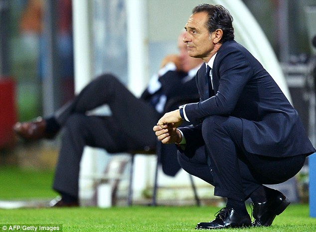 Plenty to ponder: Cesare Prandelli has much to work on before Italy's game with England on June 14