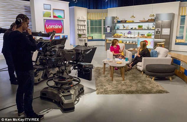 Opening up: Speaking to Lorraine Kelly about the racy photoshoot which accompanied the news of her latest accolade in the men's magazine, Rachel said: 'I did that [shoot] when I was just very early pregnant