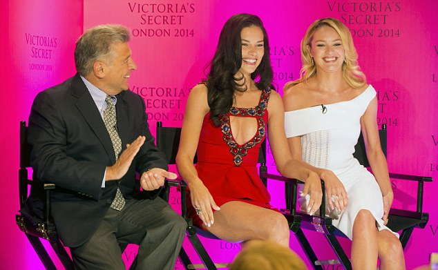 Big news: Victoria's Secrets Angels Candice Swanepoel and Adriana Lima, with Chief Marketing Officer Ed Razek, announce that their Victoria's Secret fashion show will come to London this winter