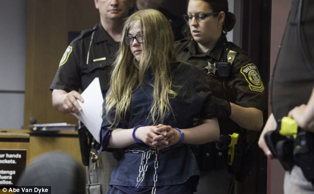 Morgan Geyser, 12, appeared in court on Monday charged with attempted first degree intentional homicide