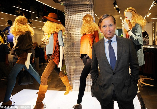 No pay rise: Marks & Spencer boss Marc Bolland saw his pay package fall to £1.59million this year
