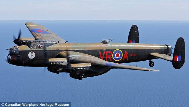 Amazing experience: Enthusiasts have the chance to fly alongside the Lancaster bomber in August