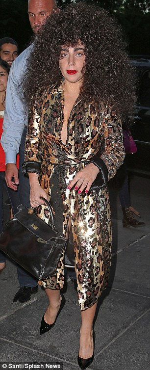 What has she come as today? Lady Gaga appeared to have dressed as some kind of mob wife for a saunter in New York on Thursday