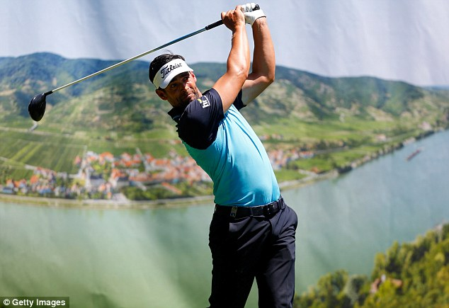 In contention: Lee Slattery's second round 66 moved him to within a shot of the lead at the Lyoness Open