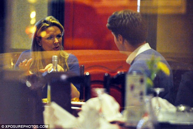 Gossip time: The actress chatted to her pal inside the eaterie