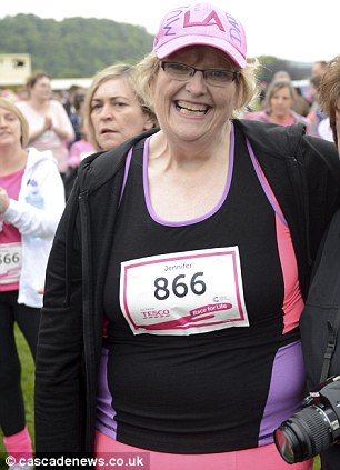 Jennifer Bodek competing in Race for Life