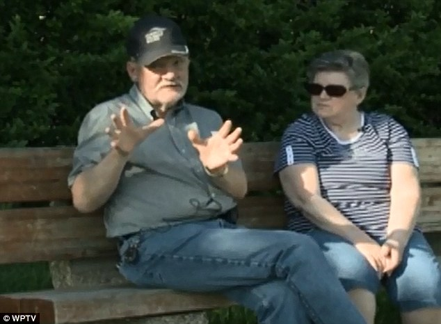 Lucky escape: Al and Betty Perry thought they would be overcome by smoke after their truck was hit