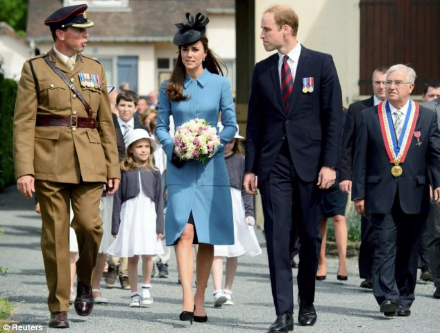 Meet: The Duke and Duchess of Cambridge met with veterans during a tea party near to Gold Beach