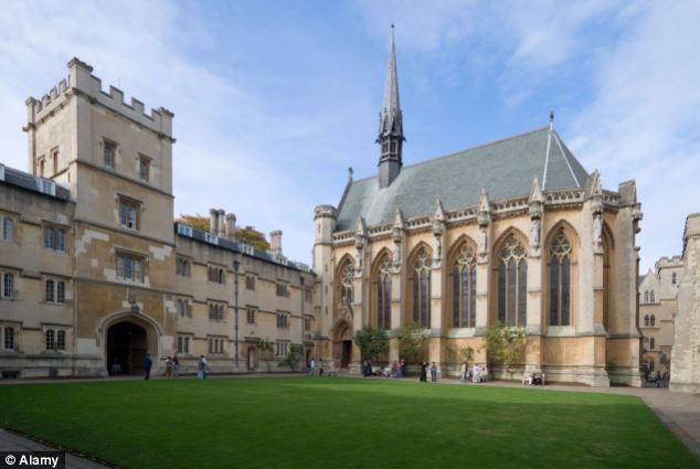 Prestigious: Professor Spence, who is an experimental psychologist, works at Oxford University (pictured)