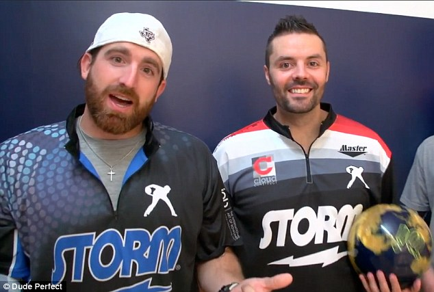The professional bowler teamed up with Youtube sensation, Dude Perfect, to make a video showcasing his amazing skills