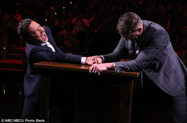 All over: Jimmy wore a face of sheer defeat as the actor slammed his fist into the table