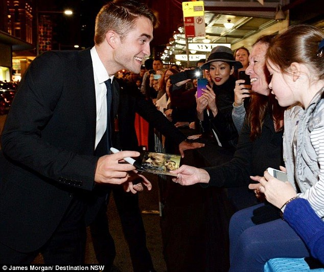 Crowd favourite: The actor attracted hundreds of Australian fans, who have followed the star since his days on the Twilight films