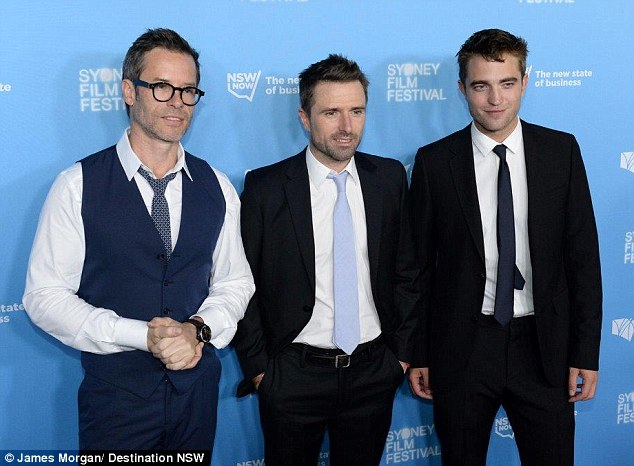 Dressed to impress: The cast of The Rover coordinated in blue, black and white tones for the premiere of their indie film in Sydney's CBD