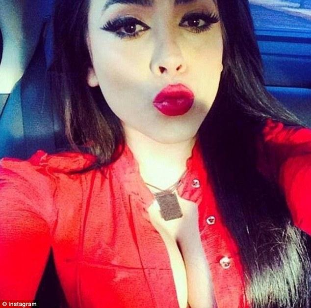 Look a like: Claudia is said to idolise Kim Kardashian and regularly posts shots of herself like this onto social media