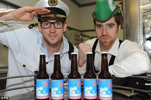Success: Martin Dickie (left) founded BrewDog with James Watt in 2007