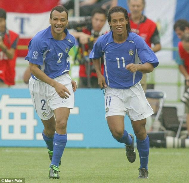 Villain: Ronaldinho's free-kick knocked England out of the 2002 World Cup