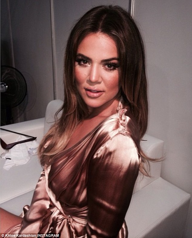 What a beauty! Khloe shared this snap on Instagram, showcasing her elegant ensemble for the evening