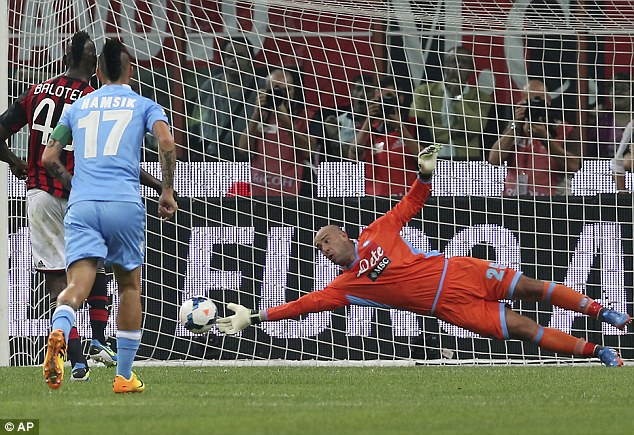 Italian job: The keeper helped Napoli to a third place finish in Serie A and win the Copa Italia