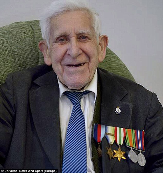 Cunning: Mr Jordan was reported missing from his care home last week. Hours later, staff realised he had crept out to attend the D-Day commemorations