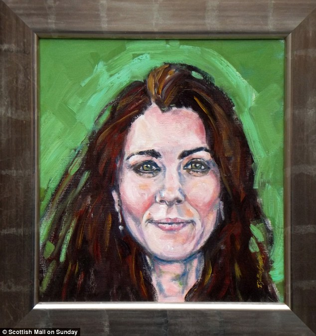 'Brilliant': Tom-Sutton-Smith's portrait of the Duchess is set to hang in Kensington Palace