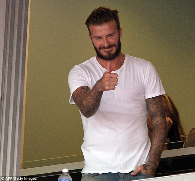 Seal of approval: England legend David Beckham believes Roy Hodgson's side can have an impact at the World Cup