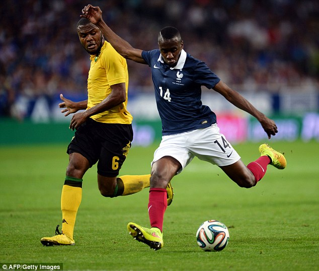 In form: PSG midfielder Blaise Matuidi was superb for France, scoring their second from just outside the box