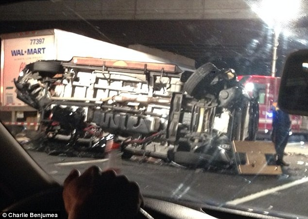 Scene: A limousine-bus carrying comedian Tracy Morgan and his entourage back to New York from Delaware was rear-ended by a truck on the New Jersey Turnpike about 1am Saturday, critically injuring three people and killing one