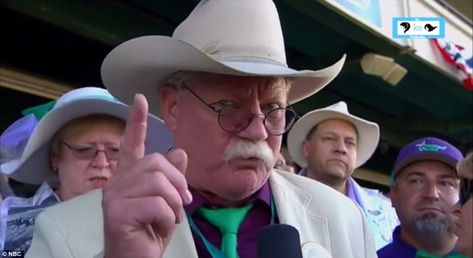 Critical: California Chrome owner Steve Coburn, pictured, said his horse 'had a target on his back' and complained that other horses in the Belmont Stakes - like winner Tonalist - did not compete in the Kentucky Derby or the Preakness Stakes