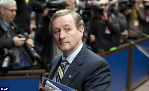 Away: A report into the horrors of the Tuam mother and baby home will go to Cabinet on Tuesday. At present, Taoiseach Enda Kenny (pictured) is still on Government business in the United States. He returns tomorrow