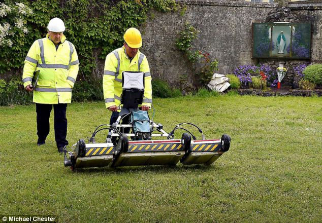 'Burial site': An expert survey of what is thought to be the burial site of 796 babies in Tuam (pictured) has uncovered two areas of interest where anomalies in the soil indicate likely human activity beneath the surface