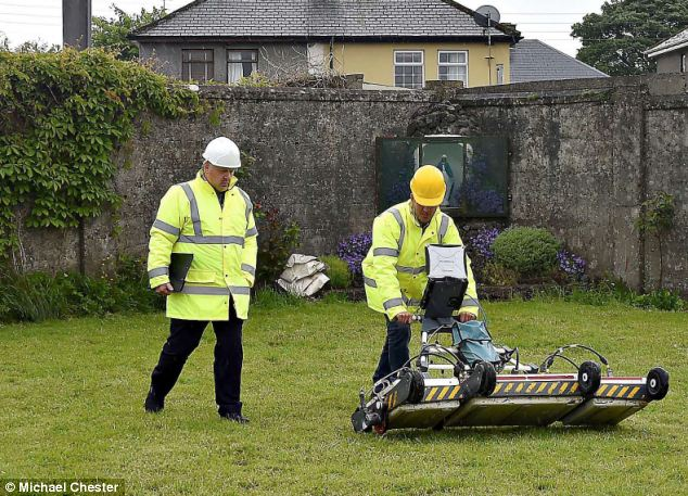 Tests: International experts TST Engineering scan the site of the former Tuam Home on Friday morning