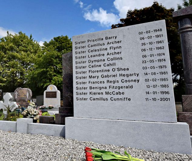Memorial: The grave at Knock, Co. Mayo, where 12 of the Bon Secours sisters were reinterred