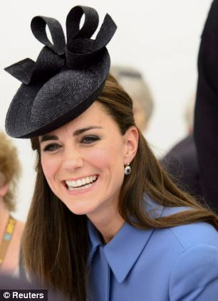In the flesh: The Duchess of Cambridge at D-Day commemorations this week
