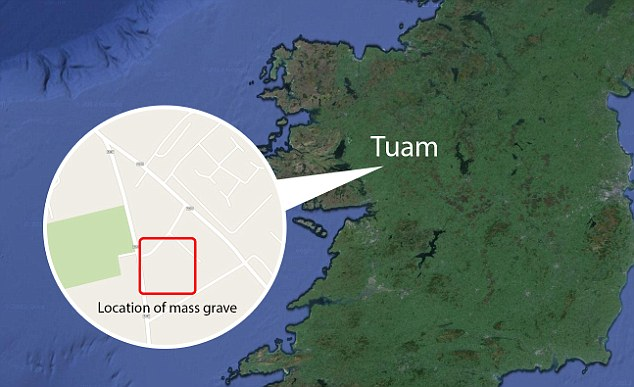 Location: The babies' remains were left in a mass grave on the grounds of St Mary's in Tuam
