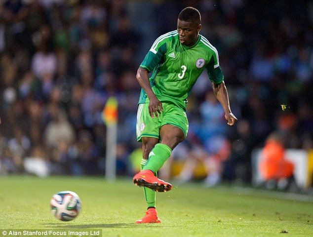 Echiejile played in two of Nigeria's 2010 World Cup group games
