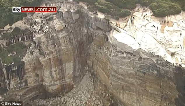 Police said he had 'fallen closer to about 40 metres down the cliff face' at the Royal National Park