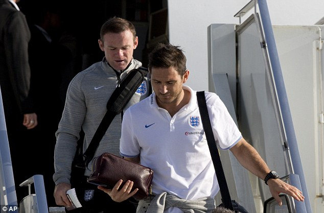 Touching down: Frank Lampard is one of few people in the England squad who was alive during the Falklands war